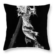 Dying Leaf Throw Pillow