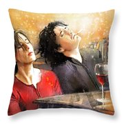 Dylan Moran And Tamsin Greig In Black Books Throw Pillow