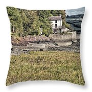 Dylan Thomas Boathouse At Laugharne 2 Throw Pillow