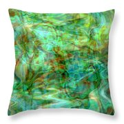 Dynamic Abstract Art Throw Pillow