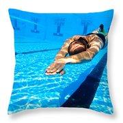 Dynamic Apnoea Throw Pillow by Hagai Nativ