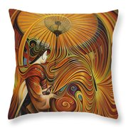 Dynamic Oriental Throw Pillow
