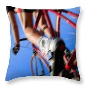 Dynamic Racing Cycle Throw Pillow