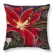 Dynamic Reds Throw Pillow