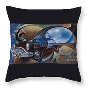 Dynamic Route 66 Throw Pillow