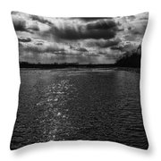 Dynamic Storm Over The Marsh Throw Pillow