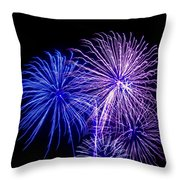 Radiant Hues Explode Throw Pillow