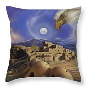 Dynamic Taos Ill Throw Pillow by Ricardo Chavez-Mendez