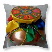 Dzambala Fortune Vase Throw Pillow