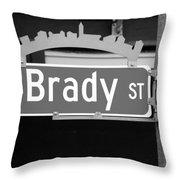 E Brady St Throw Pillow