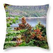 e e Cummings Quote Throw Pillow