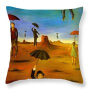 Spirit Of The Flying Umbrellas Edit 4 Throw Pillow