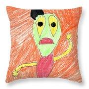 E's My Favorite Martian Throw Pillow