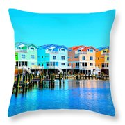 E Sea Living Throw Pillow