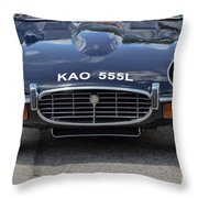 E Type Jaguar V12 Throw Pillow