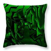 E Vincent Green Throw Pillow