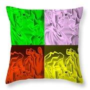 E Vincent Negative Quad Colors Throw Pillow