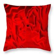 E Vincent Negative Red Throw Pillow