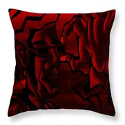 E Vincent Red Throw Pillow