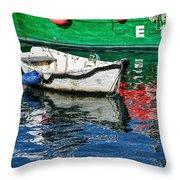 E17 Reflections - Lyme Regis Harbour Throw Pillow