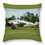 E18s Twin Beech Throw Pillow