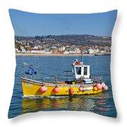 E201 Coming Into Harbour Throw Pillow