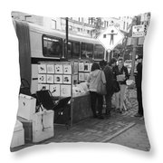 E85th. In Black And White Throw Pillow