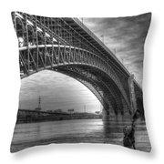 Eads Bridge Throw Pillow
