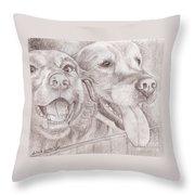 Eager Best Friends Throw Pillow