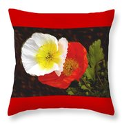 Eager Poppies Throw Pillow