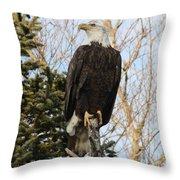 Eagle 5 Throw Pillow
