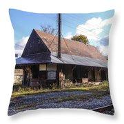 Eagle Bridge Depot Throw Pillow