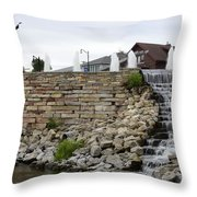 Eagle Center Waterfalls Throw Pillow