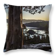 Eagle Falls Exploration Throw Pillow