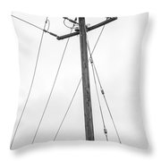 Eagle In Fog Throw Pillow