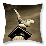 Eagle In Stone Throw Pillow