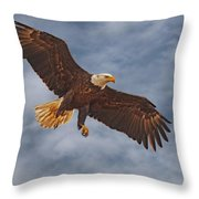 Eagle In The Sky Throw Pillow