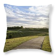 Eagle Knoll Golf Club - Hole Four Throw Pillow