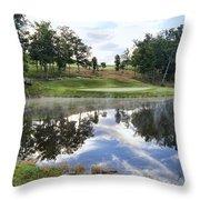 Eagle Knoll Golf Club - Hole Six Throw Pillow