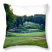Eagle Knoll - Hole Fourteen From The Tees Throw Pillow