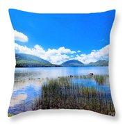 Eagle Lake In Acadia Throw Pillow
