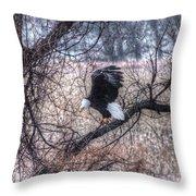 Eagle Landing Throw Pillow