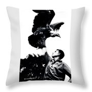 King Of Vultures Throw Pillow