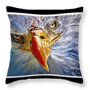 Eagle Oorah Throw Pillow