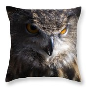 Eagle Owl 2 Throw Pillow