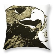 Eagle Planet Throw Pillow