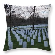 Eagle Point National Cemetery In Winter 1 Throw Pillow