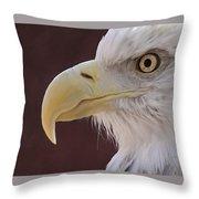 Eagle Portrait Freehand Throw Pillow