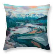 Eagle River Solstice Throw Pillow