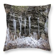 Eagle Rock Icicles 2 Throw Pillow